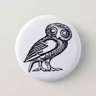 Athena's Owl Pinback Button