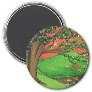 Athena's Tree 3 Inch Round Magnet