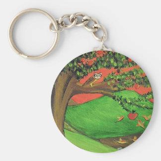 Athena's Tree Basic Round Button Keychain