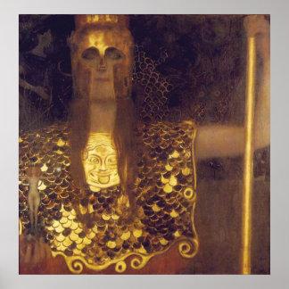 Athene de Pallas de Gustavo Klimt Póster