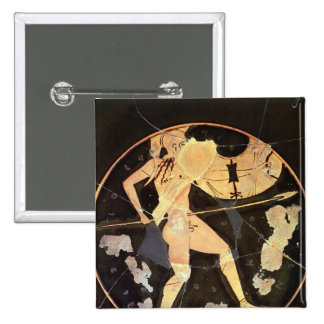Athenian red-figure kylix 2 inch square button