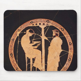 Athenian red-figure kylix depicting Aegeus Mouse Pad