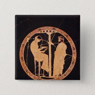 Athenian red-figure kylix depicting Aegeus Pinback Button