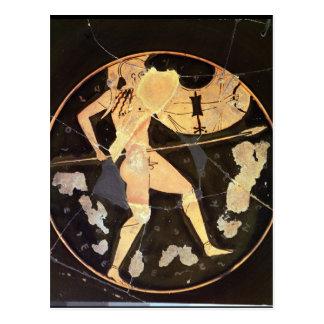 Athenian red-figure kylix postcard