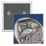 Athenian tetradrachma button