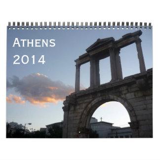 athens 2014 wall calendar