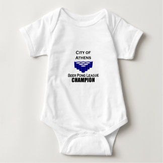 Athens Beer Pong Champion Baby Bodysuit