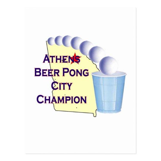 Athens Beer Pong Champion Postcard