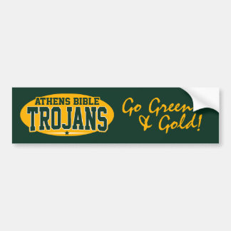 Athens Bible High School; Trojans Car Bumper Sticker