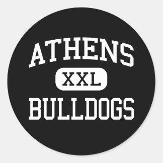 Athens - Bulldogs - High School - The Plains Ohio Classic Round Sticker