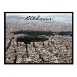 athens city streets postcard