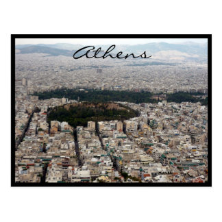 athens city streets postcard