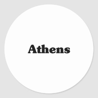 Athens Classic t shirts Classic Round Sticker
