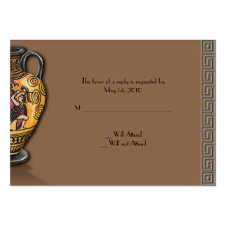 Athens design in Slate Blue and Chocolate Brown Large Business Cards (Pack Of 100)