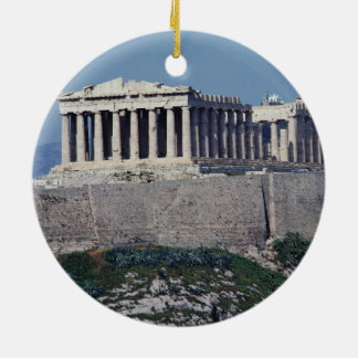 ATHENS Double-Sided CERAMIC ROUND CHRISTMAS ORNAMENT