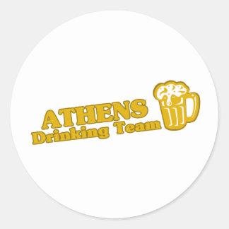 Athens Drinking Team tee shirts Round Sticker