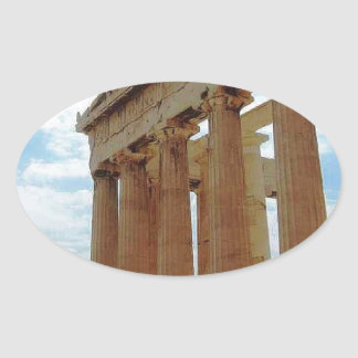 Athens Greece Oval Sticker