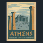 "Athens, Greece Postcard<br><div class=""desc"">Anderson Design Group is an award-winning illustration and design firm in Nashville,  Tennessee. Founder Joel Anderson directs a team of talented artists to create original poster art that looks like classic vintage advertising prints from the 1920s to the 1960s.</div>"