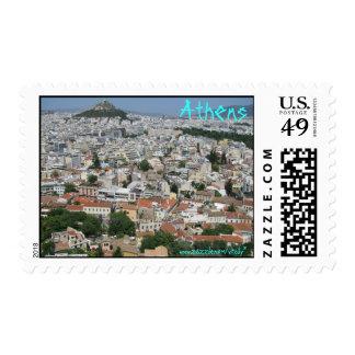 Athens Greece stamp design