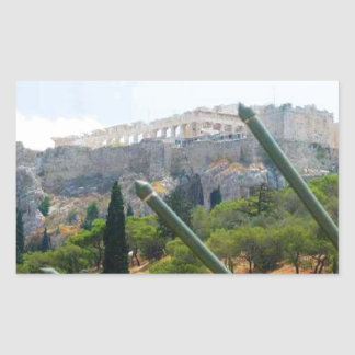 Athens Greece Rectangle Stickers