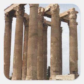 Athens-Greece-Temple-of-Zeus--[KAN.K].JPG Square Sticker
