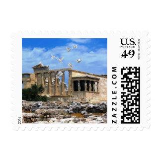 Athens Greece Temple of Zeus Stamp
