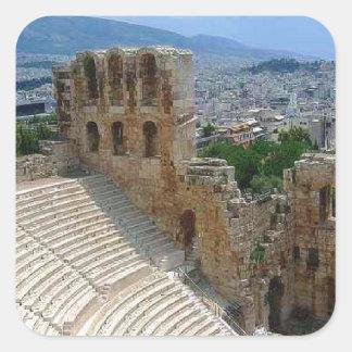 Athens Greece the Colosseum Square Sticker