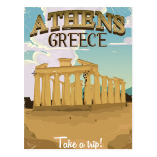 Athens Greek vacation acropolis poster Postcard