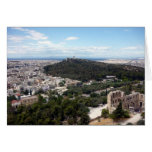 athens green view greeting card