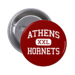 Athens - Hornets - Middle School - Athens Texas Pinback Button