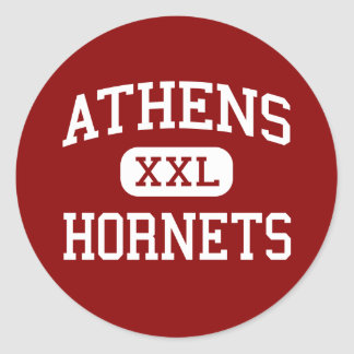 Athens - Hornets - Middle School - Athens Texas Classic Round Sticker