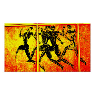 Athens Marathon Orange Print