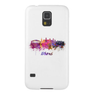 Athens OH skyline in watercolor Galaxy S5 Case