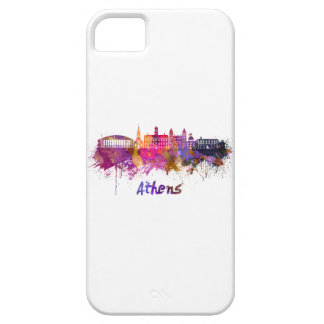Athens OH skyline in watercolor iPhone SE/5/5s Case