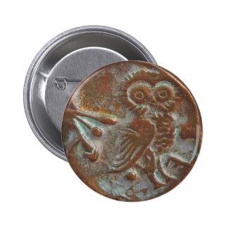 Athens Owl Button