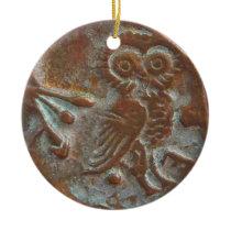 Athens Owl Ceramic Ornament