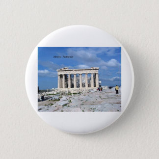 Athens Parthenon Pinback Button