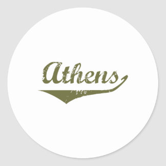 Athens Revolution tee shirts Classic Round Sticker