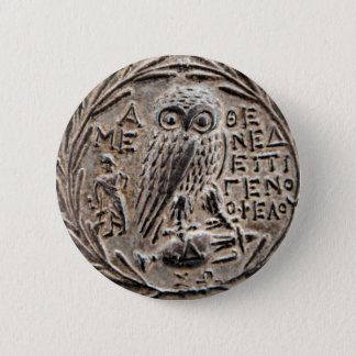 Athens Silver Tetradrachm Button