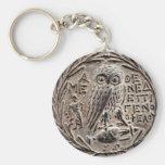 Athens Silver Tetradrachm Basic Round Button Keychain