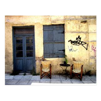 Athens street Patio Postcard