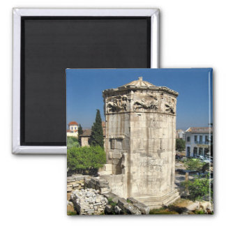 Athens tower 2 inch square magnet