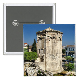 Athens tower pinback buttons