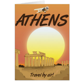 """Athens """"Travel by air"""" Golden Sunset Card"""