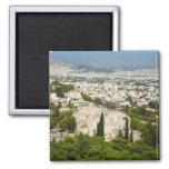 Athens view refrigerator magnet
