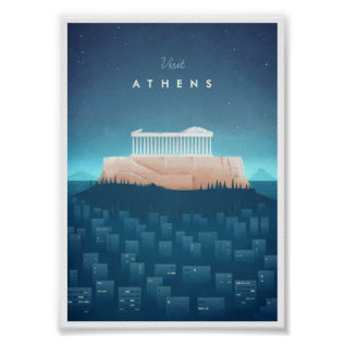 Athens Vintage Travel Poster at Zazzle