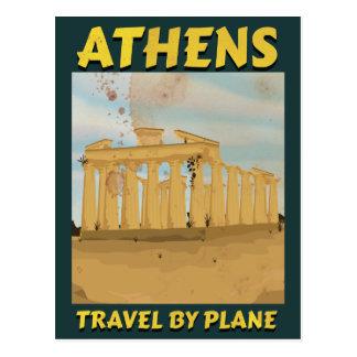 Athens vintage travel poster postcard