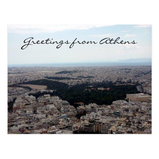 athens vista greetings postcard