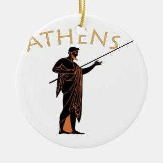 Athens Warrior Ceramic Ornament