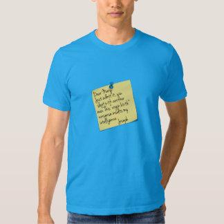Athiest Joseph and Mary joke T Shirt